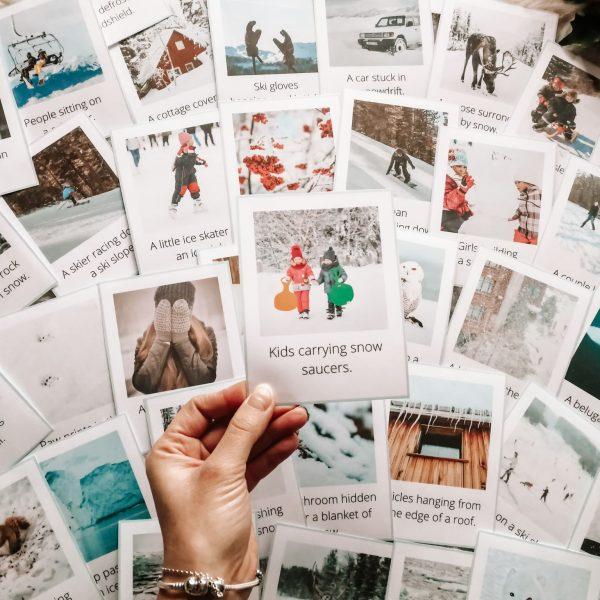 karty obrazkowe zima