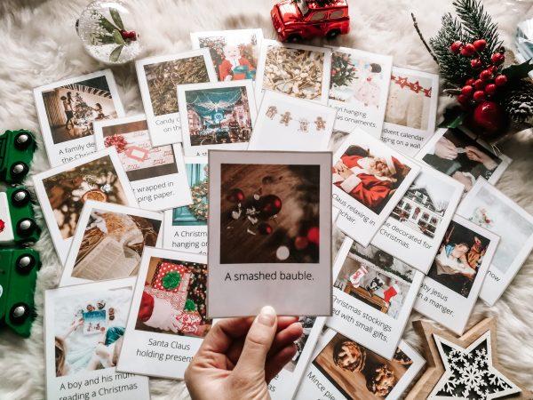 christmas flashcards karty obrazkowe