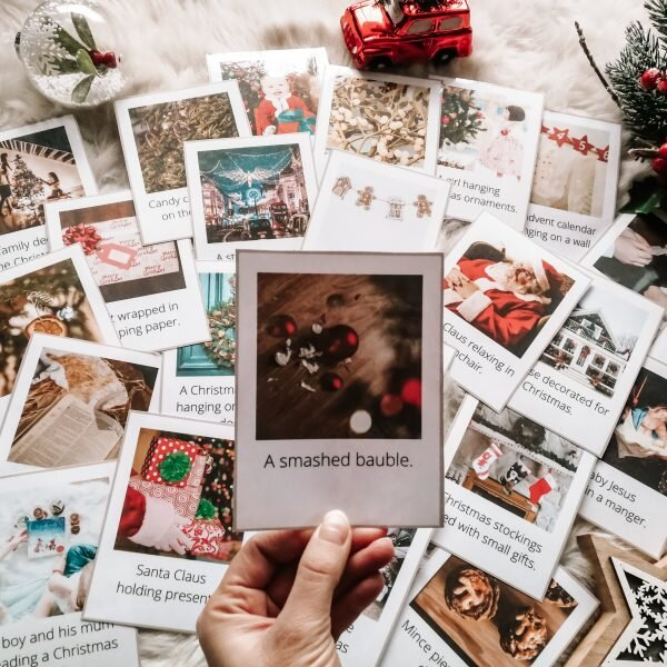 christmas flashcards karty obrazkowe